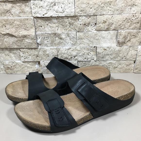 a09227369e389d Clarks Shoes | Sandal Black Leather Slip On Perri Island | Poshmark